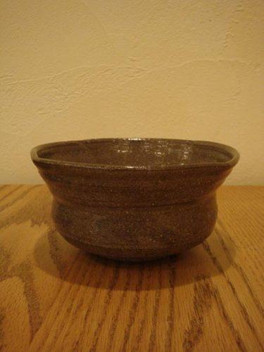 鉄絵柳紋深鉢
